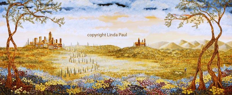 Tuscan Landscape Art Prints of Tuscany - Italian style decor
