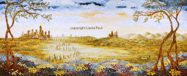 Tuscan Landscape Art print on canvas