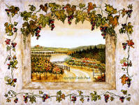 grapes and vines wine decor