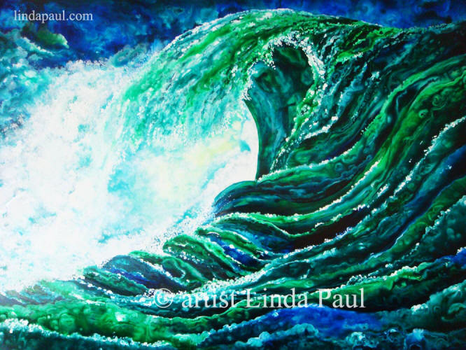 ocean and beach paintings of waves