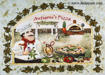 Italian pizza kitchen or restaurant artwork