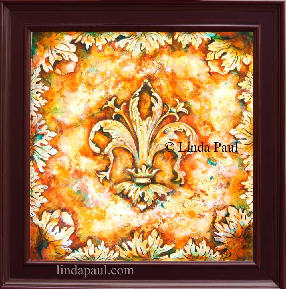 Fleur de Lis Paintings - Fleur de lys Wall Art Decor