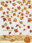 falling autumn leaves contemporary artwork