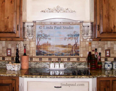 rustic kitchen decor backsplash