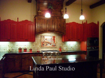 ecletic southwest kitchen design and backsplash picture