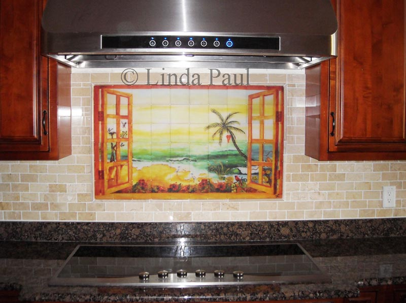 Kitchen tile murals tile art backsplashes