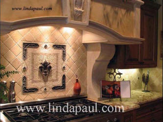 fleur de lis decor tiles for kitchens