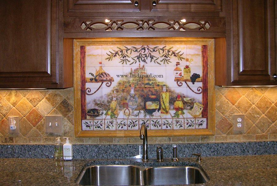 Mural Tiles For Kitchen Decor Italian Tile Backsplash Kitchen Tiles Murals Ideas 1