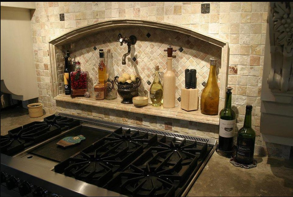 Fleur de Lis Tile - Kitchen Backsplash Wall Decor Accent Tiles