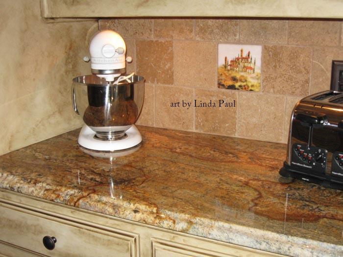 tuscan backsplash tile murals tuscany design kitchen tiles