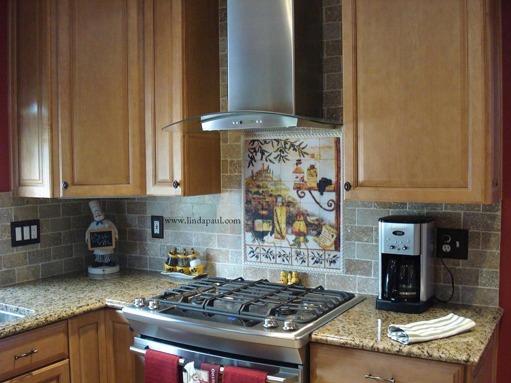 Kitchen Back Splash Tuscan Backsplash Tile Murals Tuscany Design Kitchen Tiles
