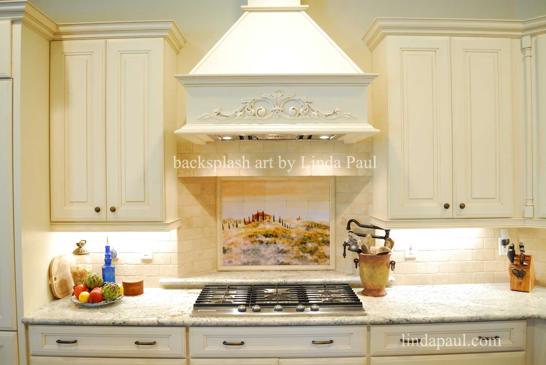 Tuscan tile murals kitchen backsplashes tuscany art tiles italian landscape backsplsh mural dailygadgetfo Image collections