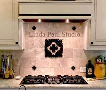 baroque DIY backsplash