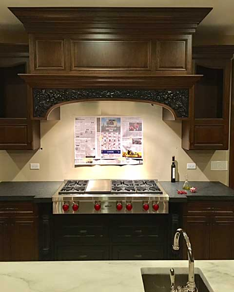 Before Picture Of Backsplash Area