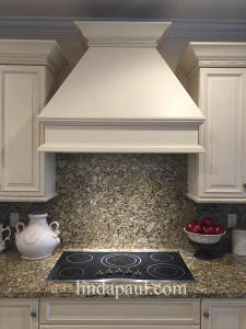 before picture of granite back splash