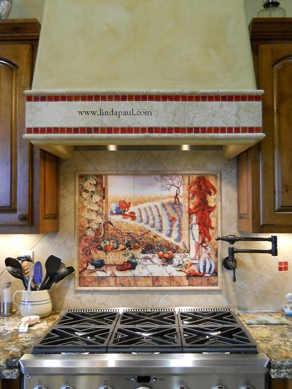 Http Www Lindapaul Com Chili Pepper Kitchen Decor Tile Backsplash Mural Htm