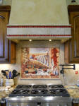 chili pepper kitchen backsplash installation