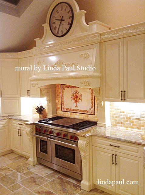 Kitchen Backsplash Installed In A Beautiful French Country Kitchen