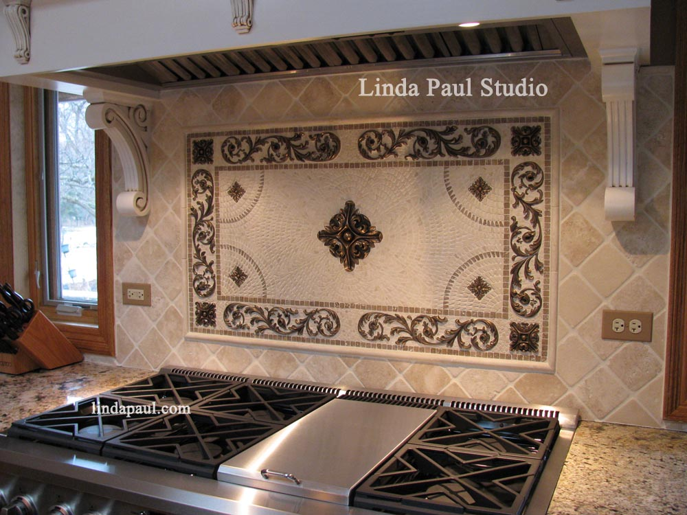 Flower Kitchen Backsplash Medallions and Accents