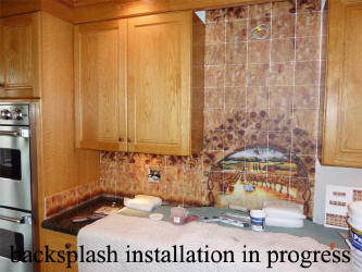 intall backsplash