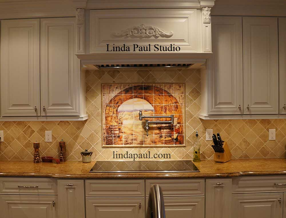 everything tuscany kitchen backsplash installed. beautiful ideas. Home Design Ideas