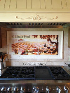 photo of installed vineyard mural