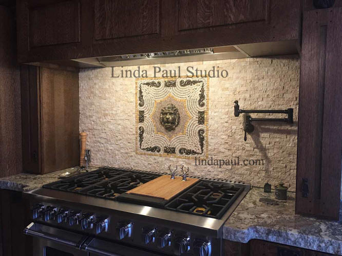 Lion Head backsplash