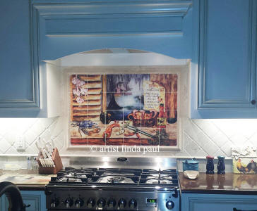 installation picture of Louisiana kitchen Mural
