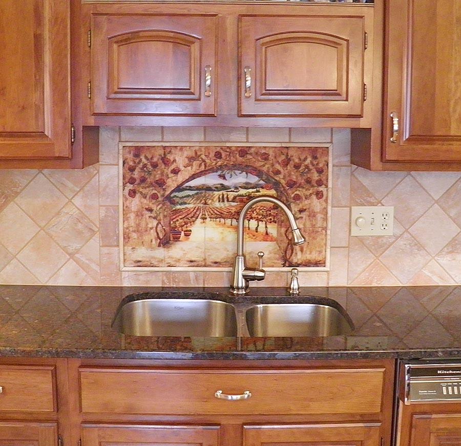 Italian Backsplash Tile: Italian Tiles Of Vineyard, Roses Backsplash Tiles