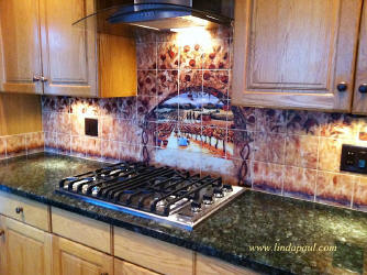 custom backsplash