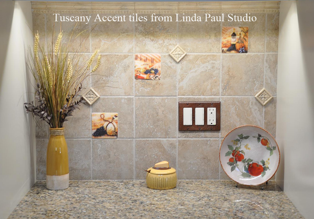 Accent backsplash tiles