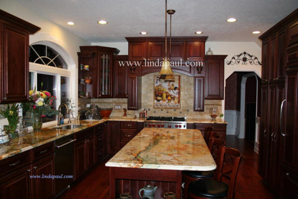 tuscan kitchen backsplash ideas by Linda Paul