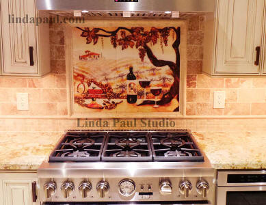 Vineyard tile mural 30 x 24