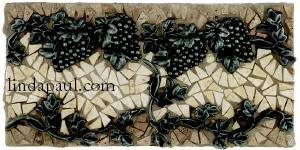 grapes and vines tiles mosaic border