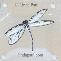 pearl white glass dragonfly tile