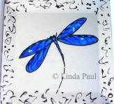 cobalt blue 4x4 dragonfly tile