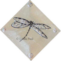 diagonal diamond dragonfly tile
