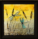 painted dragonfly framed art