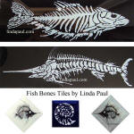 black and white fish tiles