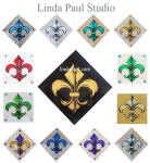 Colorful Fleur de Lis glass tiles