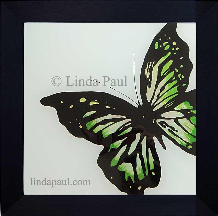 Butterfly Art Paintings - Glass Tiles of Butterflies
