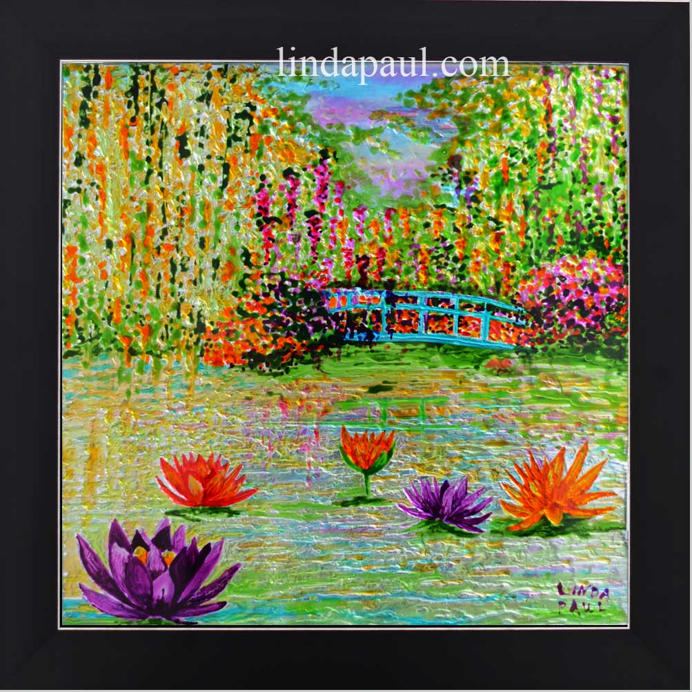 Original Painitng Of Monetu0027s Garden And Pond Water Lilies