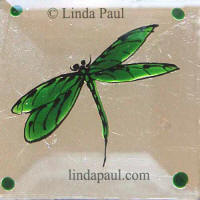 peridot grass green dragon fly tile