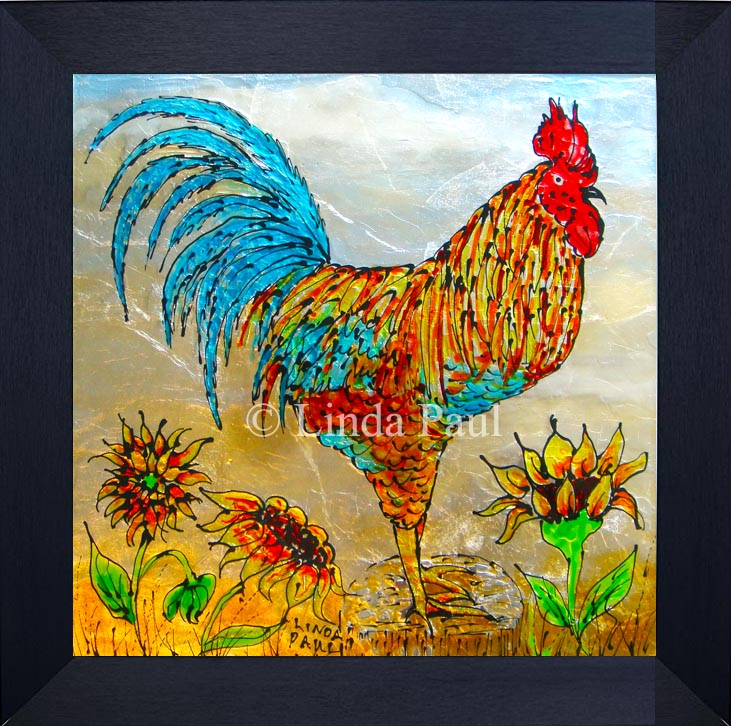 Rooster Decor Framed Wall Art Or Backsplash Tile For Kitchen