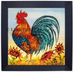 rooster backsplash art
