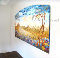 side view of Fileds of Tuscany painitng