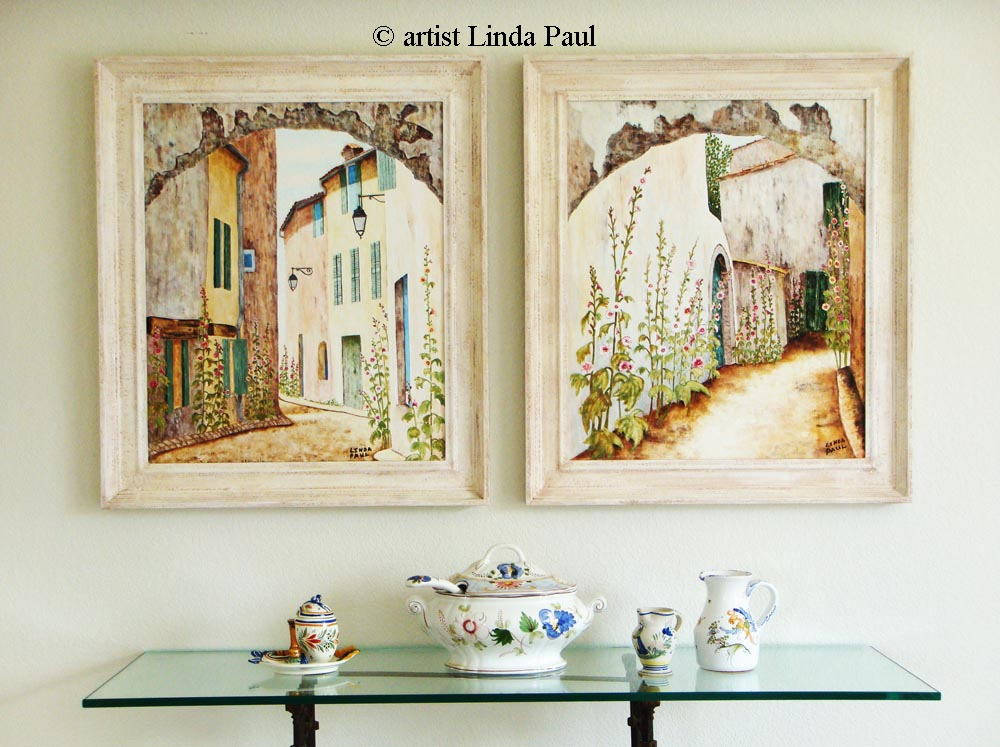 Superieur Set Of 2 French Country Art Paintings