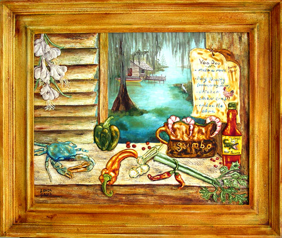 Louisiana Kitchen Southern Art Paintings New Orleans Art