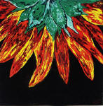 abstract sunflower painting
