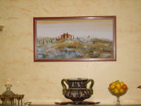 framed art tuscany